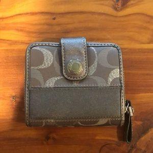 Coach small gray wallet